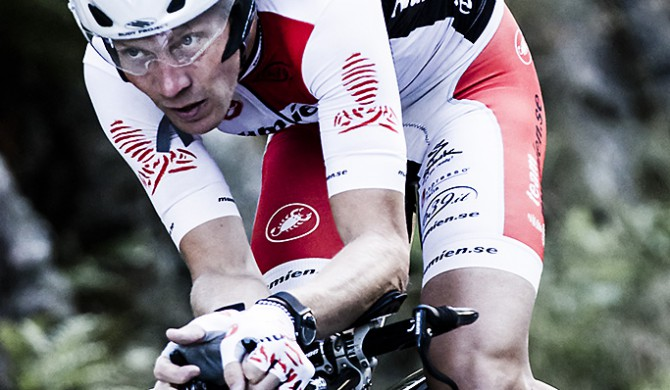 Photo by Valentin Baat | Stefan Olgarsson suffering on his TT bike Bergakungatempot 2012