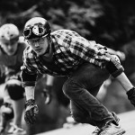 Photo by Valentin Baat. retro style, skater. longboard